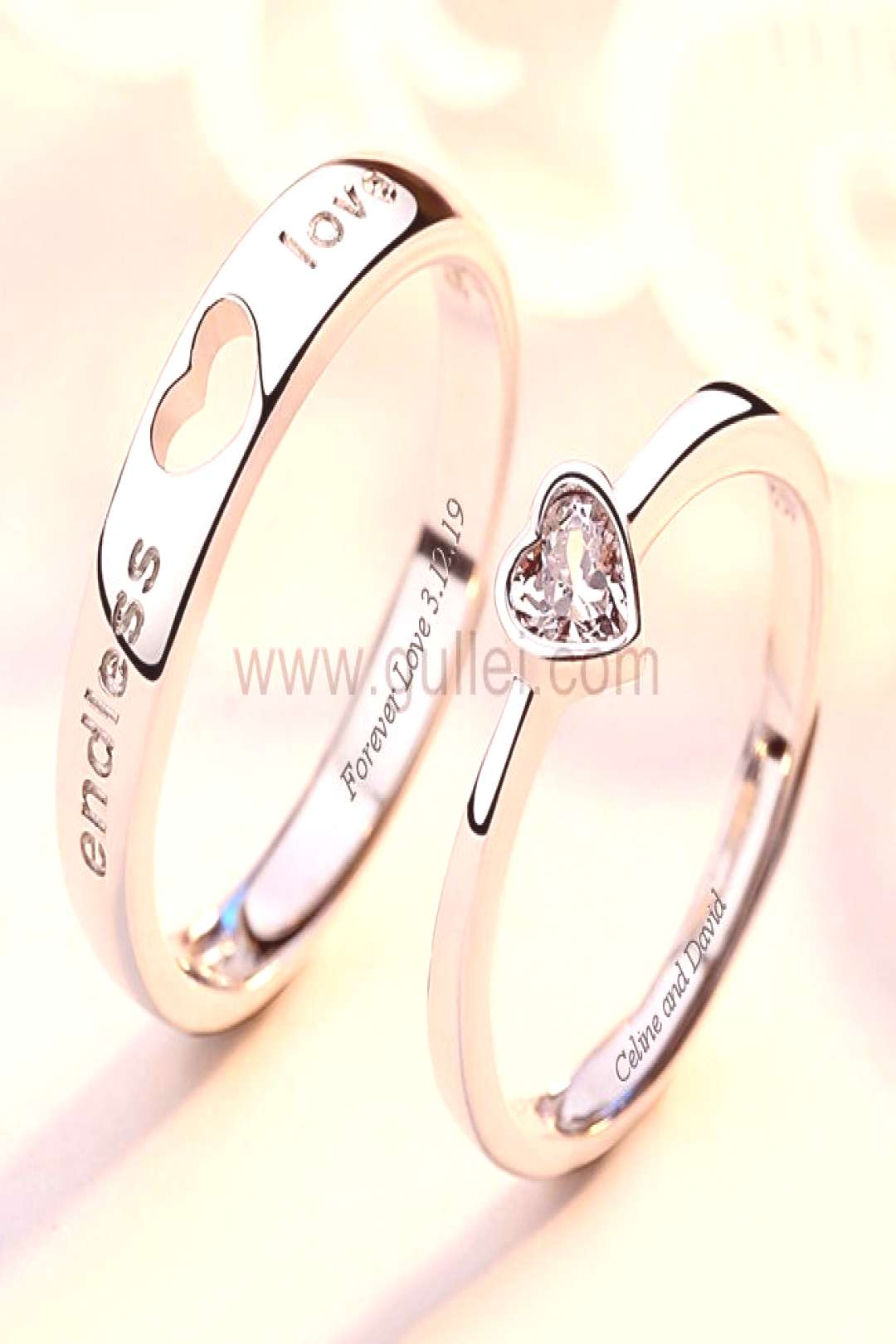 Endless Love Engagement Rings for Couple (Adjustable Size)