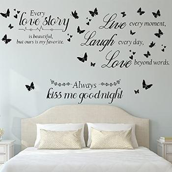 3 Pieces Every Love is Beautiful Wall Quotes Stickers Kiss