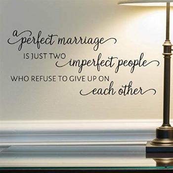 A Perfect Marriage Wall Decal, Married Quote Wall Décor,