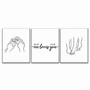 All of Me Loves All of You Wall Decor - Set of 3 Wall Decor