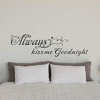 AnFigure Always Kiss Me Goodnight Wall Decal, Wall Decals