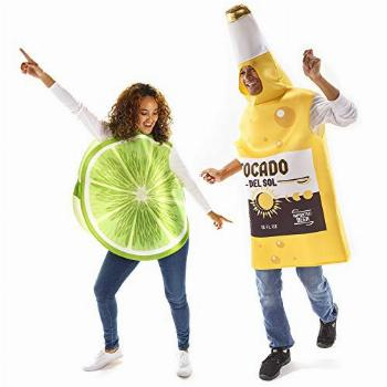 Beer & Lime Halloween Couples Costume - Funny Food Fruit