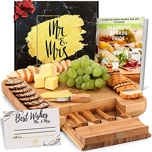 DELUXY Mr. and Mrs. Cheese Board - Cute Bridal Shower Gifts
