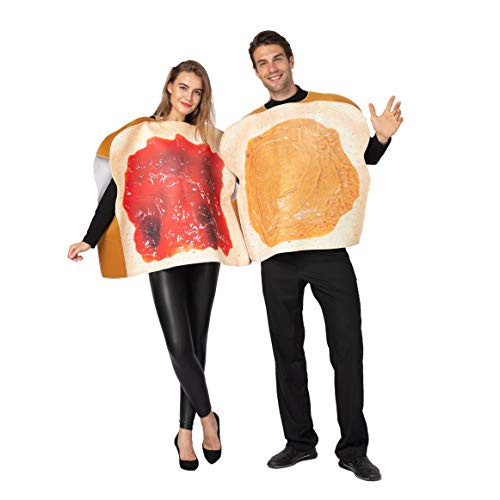 Peanut Butter and Jelly PBJ Costume Adult Couple Set w/one