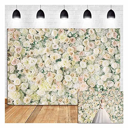 Pink White Rose Flowers Theme Photo Background 8x6ft Girl